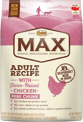 Nutro Max Adult Mini Chunk Natural Chicken Meal & Rice Recipe Dry Dog Food