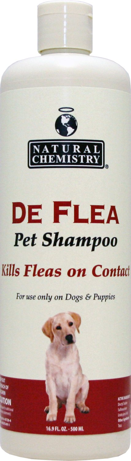 Natural Chemistry De Flea Shampoo for Dogs & Puppies, 16.9-oz bottle