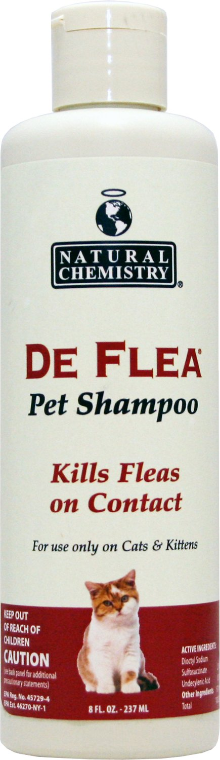 Natural Chemistry De Flea Shampoo for Cats, 8-oz, bottle