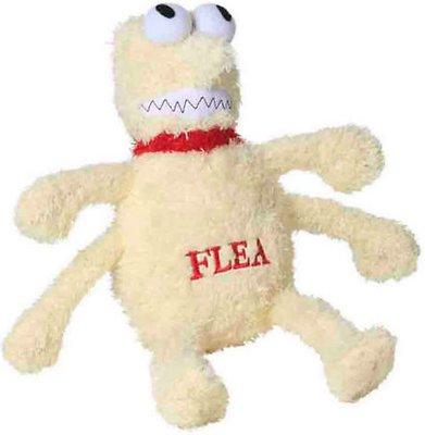 Multipet Flea & Tick Plush Dog Toy, Large Flea