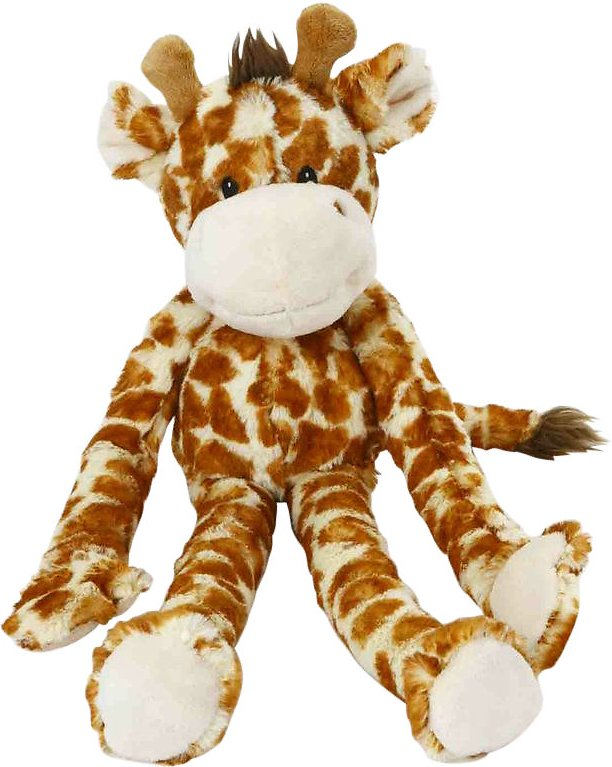 Multipet Swingin' Safari with Extra Long Arms & Legs with Squeakers Plush Dog Toy