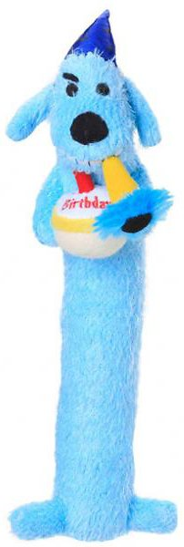 Multipet Loofa Birthday Dog Toy, Color Varies, 12-in
