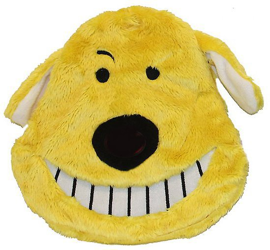 Multipet Loofa Dog Head Dog Toy, Color Varies