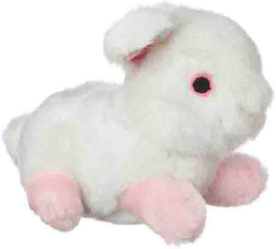 Multipet Look Who's Talking Rabbit Plush Dog Toy