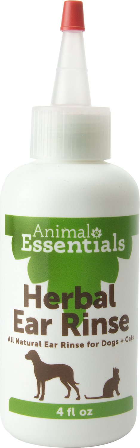 Animal Essentials Herbal Ear Rinse for Dogs & Cats, 4-oz bottle