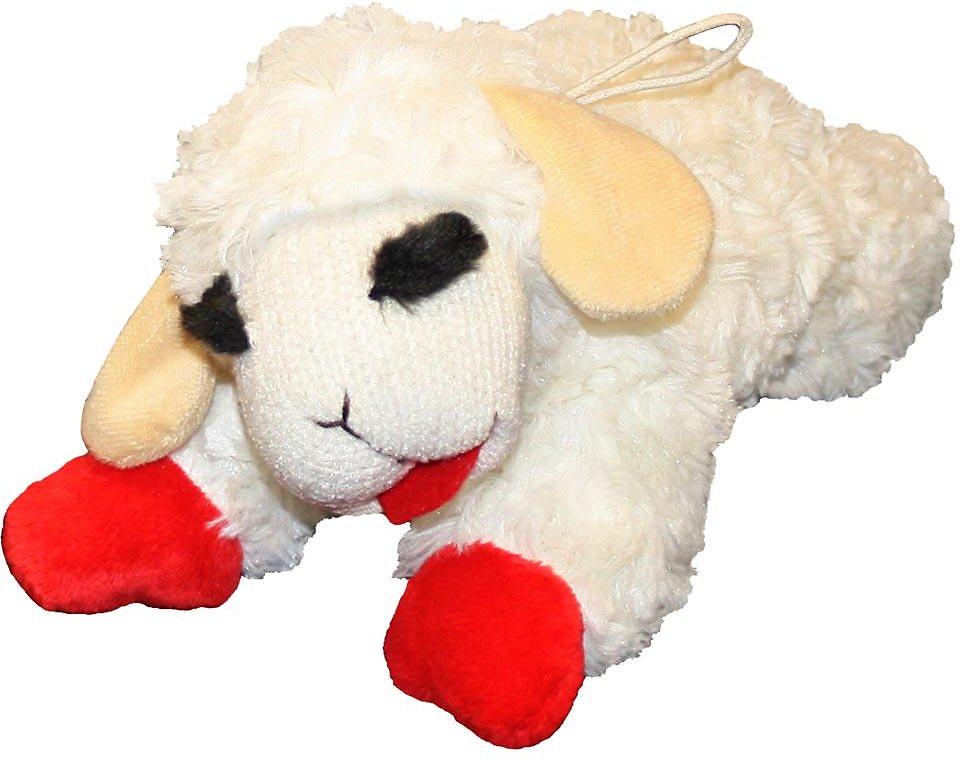 Multipet Lamb Chop Plush Dog Toy Image
