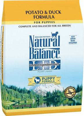 Natural Balance L.I.D. Limited Ingredient Diets Puppy Formula Potato & Duck Formula Grain-Free Dry Dog Food, 12-lb bag