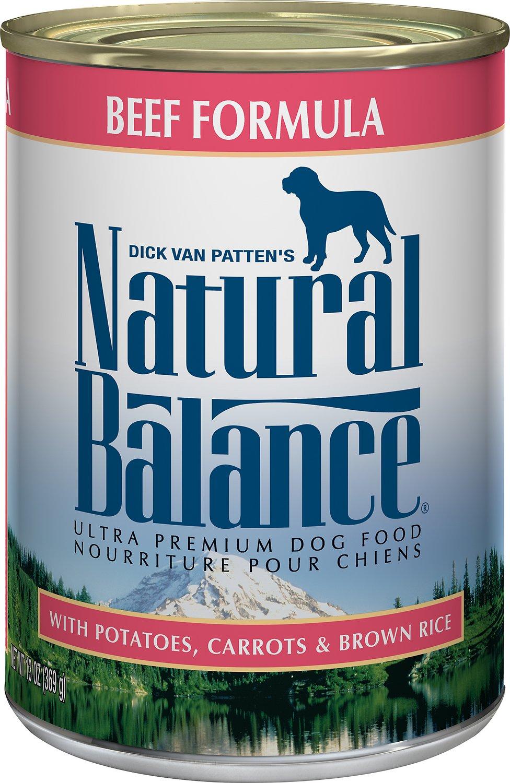 Natural Balance Ultra Premium Beef Formula Canned Dog Food, 6-oz
