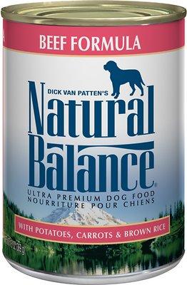 Natural Balance Ultra Premium Beef Formula Canned Dog Food, 13-oz, case of 12