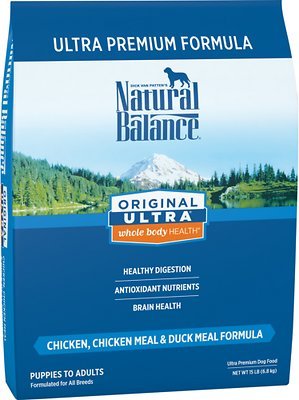 Natural Balance Original Ultra Whole Body Health Chicken, Chicken Meal & Duck Meal Formula Dry Dog Food, 15-lb bag