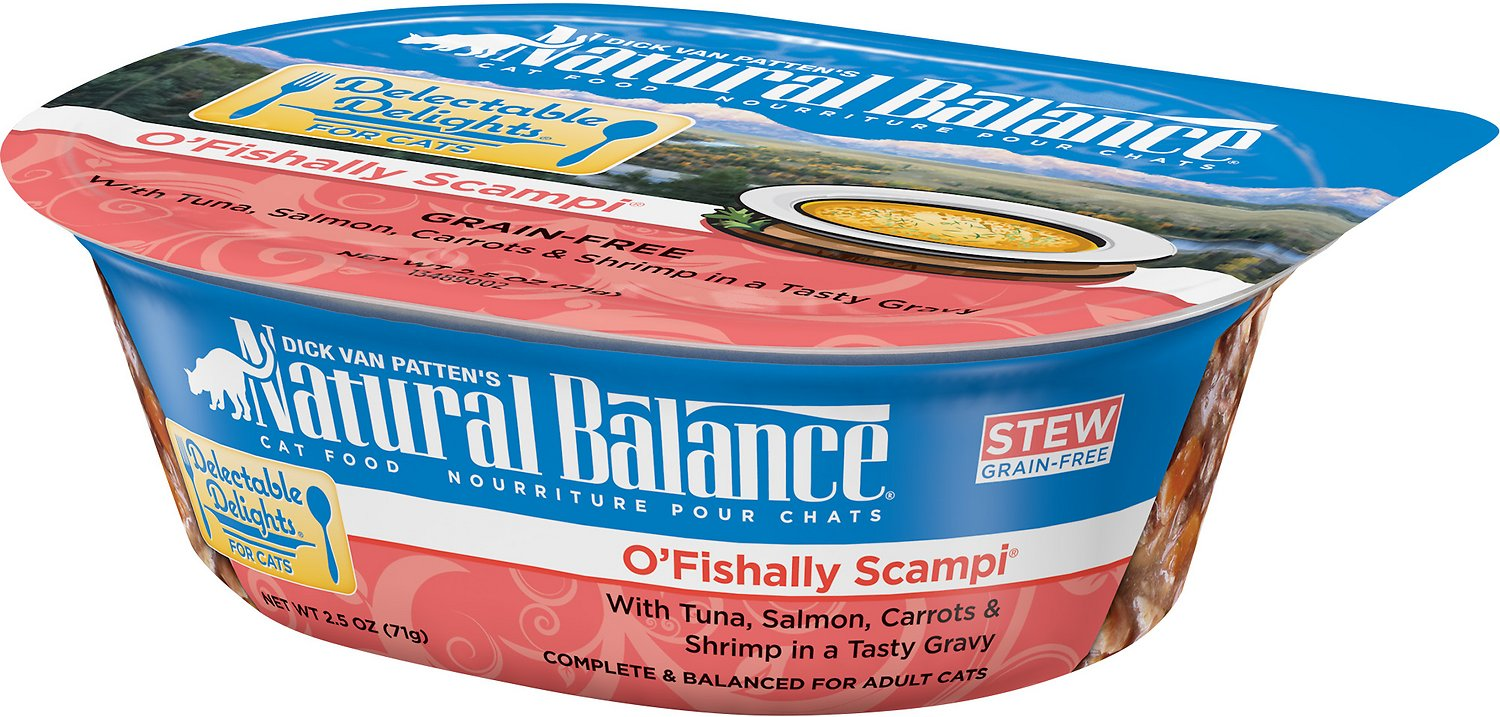 Natural Balance Delectable Delights O'Fishally Scampi Stew Grain-Free Wet Cat Food, 2.5-oz