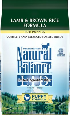 Natural Balance L.I.D. Limited Ingredient Diets Puppy Formula Lamb & Brown Rice Formula Dry Dog Food, 4.5-lb bag