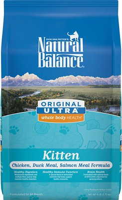 Natural Balance Original Ultra Whole Body Health Kitten Formula Chicken, Duck Meal & Salmon Meal Dry Cat Food, 6-lb bag