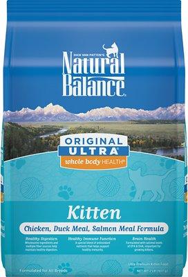 Natural Balance Original Ultra Whole Body Health Kitten Formula Chicken, Duck Meal & Salmon Meal Dry Cat Food, 2-lb bag