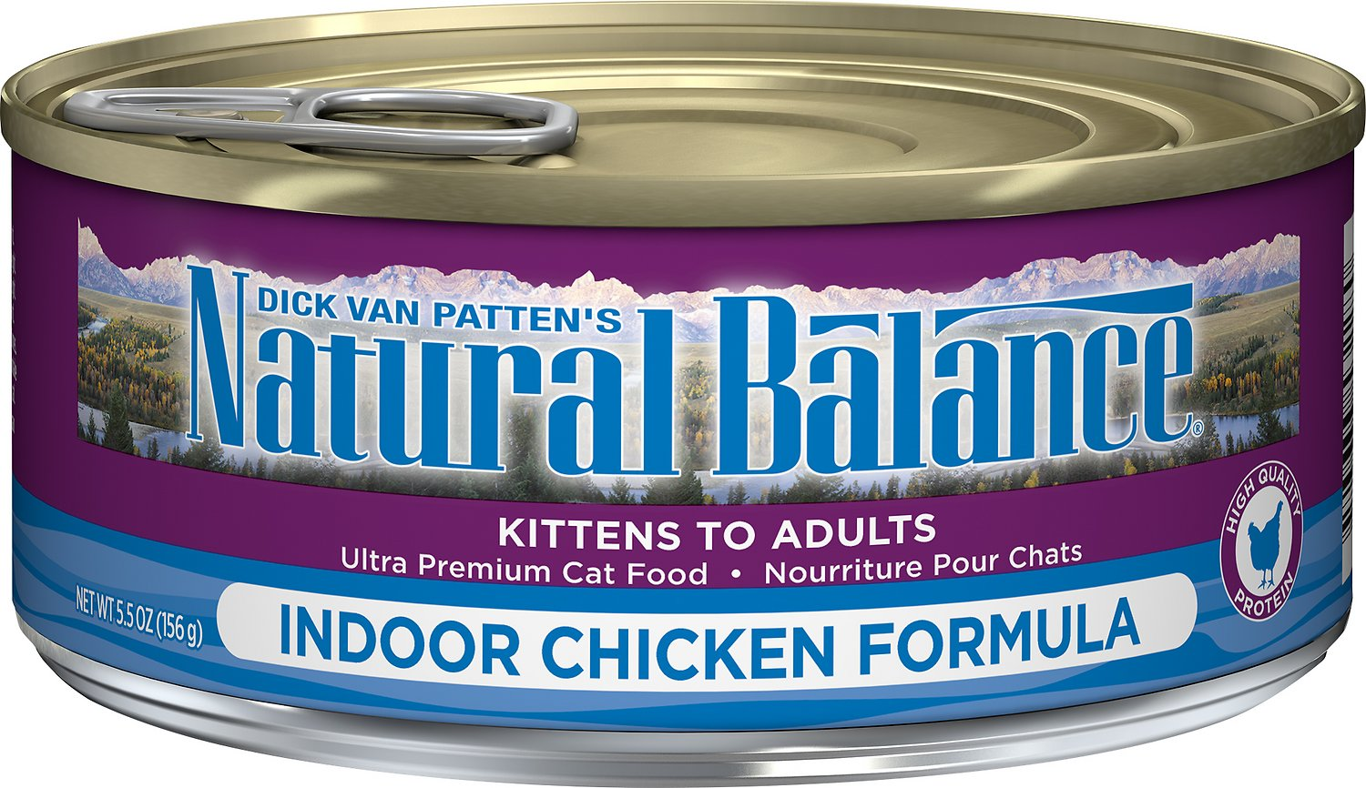 Natural Balance Ultra Premium Indoor Chicken Formula Canned Cat Food, 5.5-oz