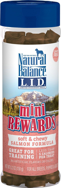 Natural Balance L.I.D. Limited Ingredient Diets Mini Rewards Salmon Formula Dog Treats, 5.3-oz jar