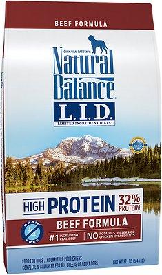 Natural Balance L.I.D. Limited Ingredient Diets High-Protein Beef Formula Grain-Free Dry Dog Food, 12-lb bag