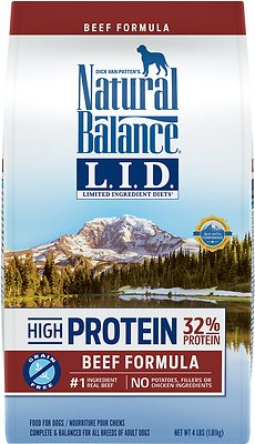 Natural Balance L.I.D. Limited Ingredient Diets High-Protein Beef Formula Grain-Free Dry Dog Food, 4-lb bag