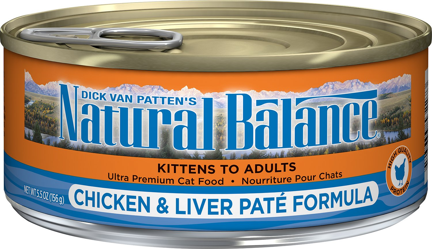 Natural Balance Ultra Premium Chicken & Liver Pate Formula Canned Cat Food, 5.5-oz