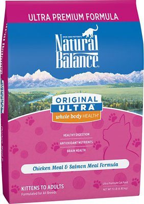 Natural Balance Original Ultra Whole Body Health Chicken Meal & Salmon Meal Formula Dry Cat Food, 15-lb bag