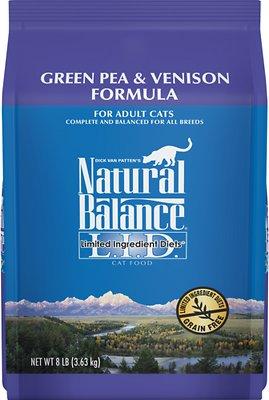 Natural Balance L.I.D. Limited Ingredient Diets Green Pea & Venison Grain-Free Dry Cat Food, 8-lb bag