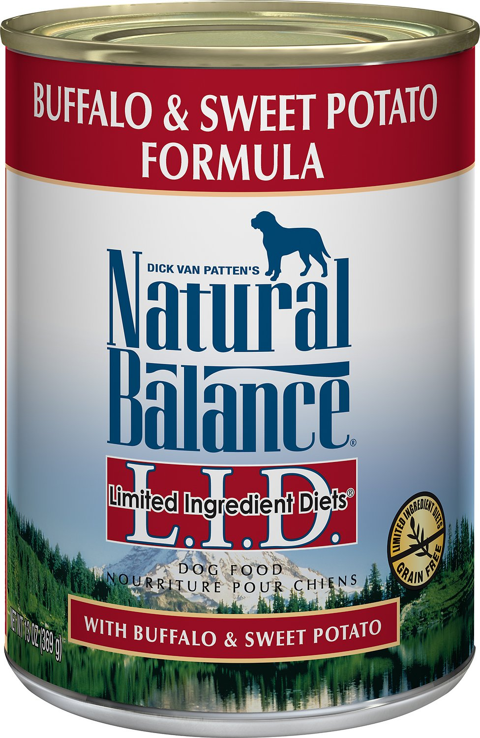 Natural Balance L.I.D. Limited Ingredient Diets Buffalo & Sweet Potatoes Formula Grain-Free Canned Dog Food, 13-oz