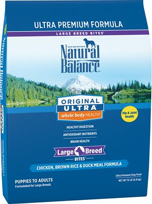 Natural Balance Original Ultra Whole Body Health Chicken, Brown Rice, Duck Meal Formula Large Breed Dry Dog Food, 15-lb bag Size: 15-lb bag, Weights: 15.0 pounds