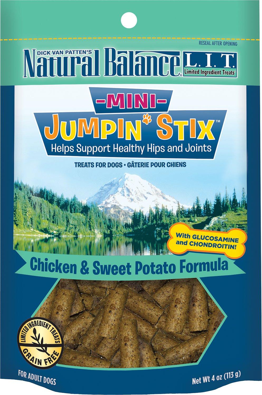 Natural Balance L.I.T. Limited Ingredient Treats Mini Jumpin' Stix Chicken & Sweet Potato Formula Dog Treats, 4-oz bag