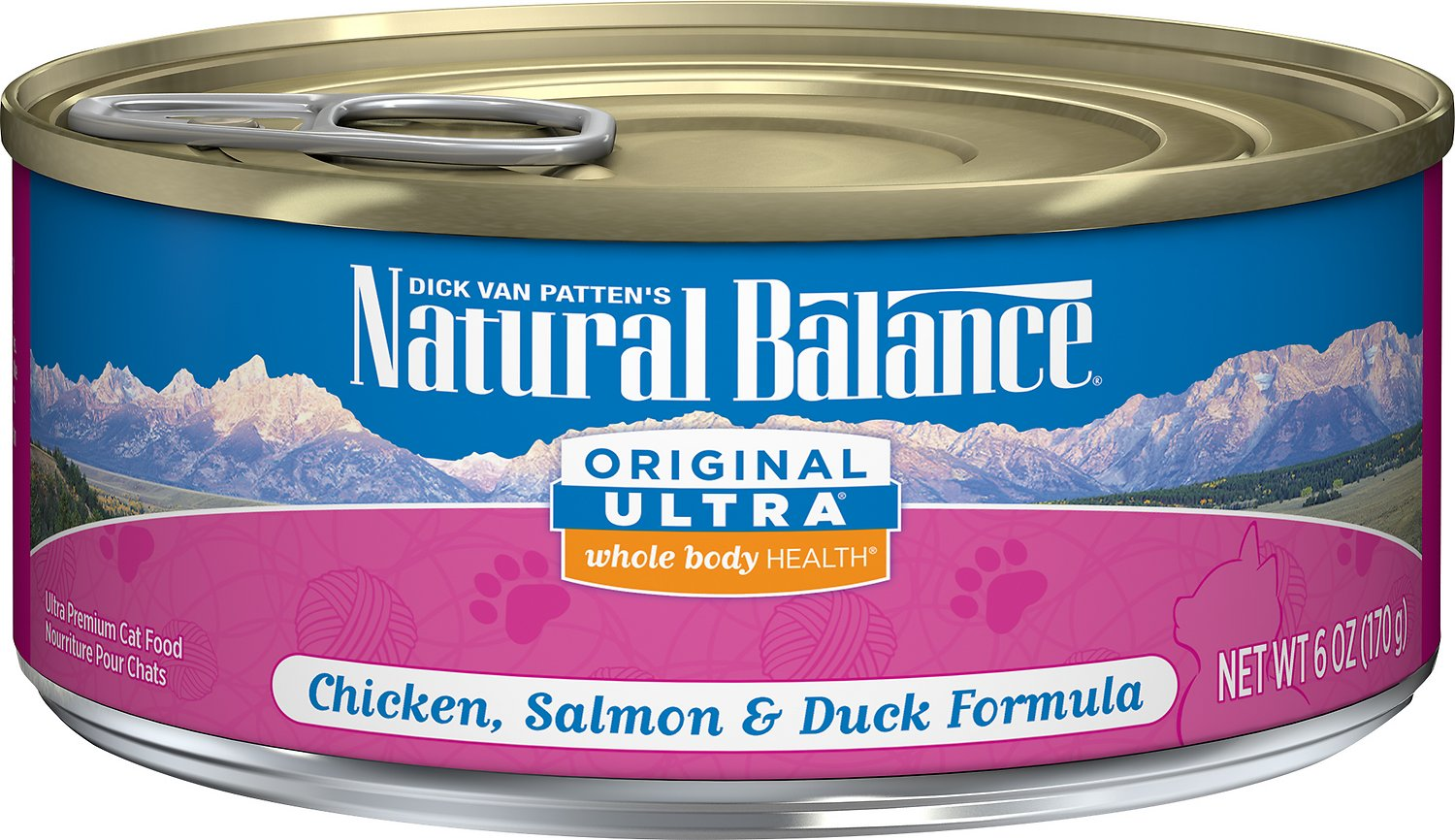 Natural Balance Original Ultra Whole Body Health Chicken, Salmon & Duck Formula Canned Cat Food, 3-oz