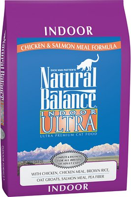 Natural Balance Indoor Ultra Chicken Meal & Salmon Meal Formula Dry Cat Food, 15-lb bag
