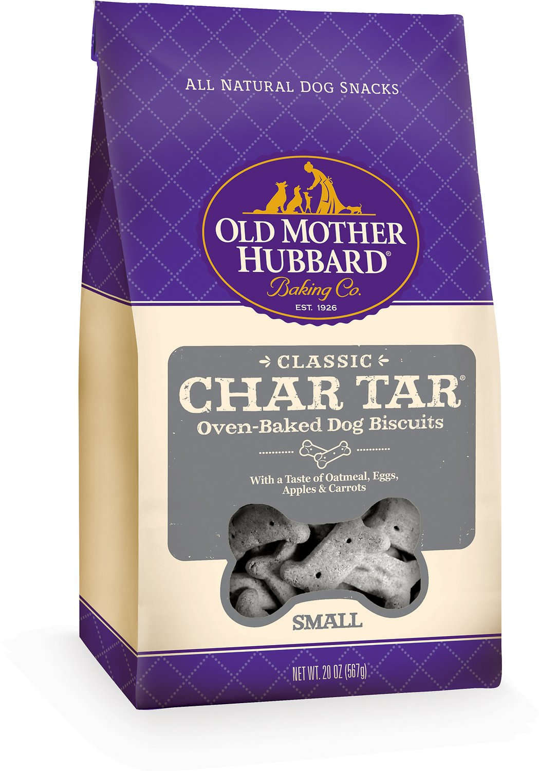 Old Mother Hubbard Classic Char Tar Biscuits Small Baked Dog Treats, 20-oz bag