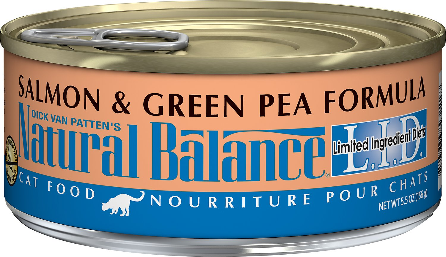 Natural Balance L.I.D. Limited Ingredient Diets Salmon & Green Pea Formula Grain-Free Canned Cat Food, 3-oz