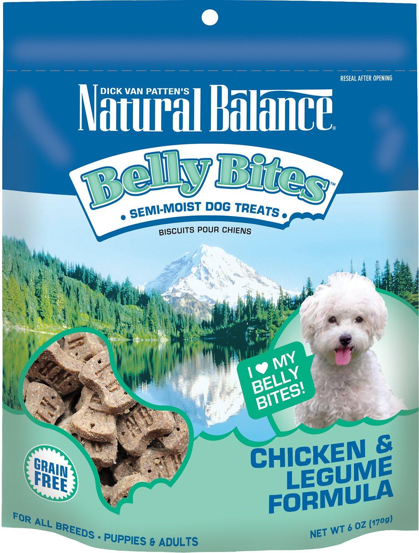 Natural Balance Belly Bites Chicken & Legume Formula Grain-Free Dog Treats, 6-oz bag