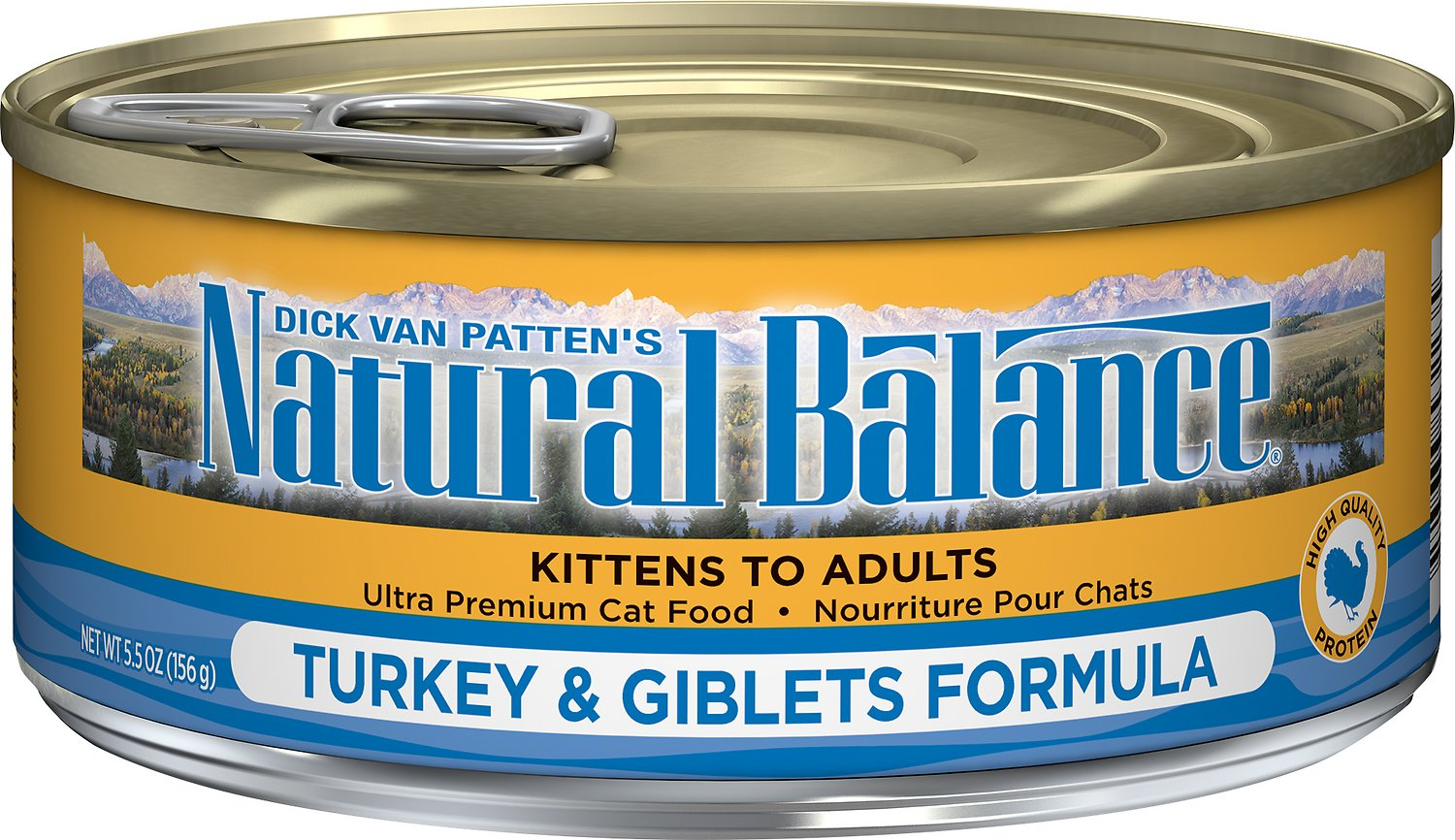Natural Balance Ultra Premium Turkey & Giblets Formula Canned Cat Food, 3-oz