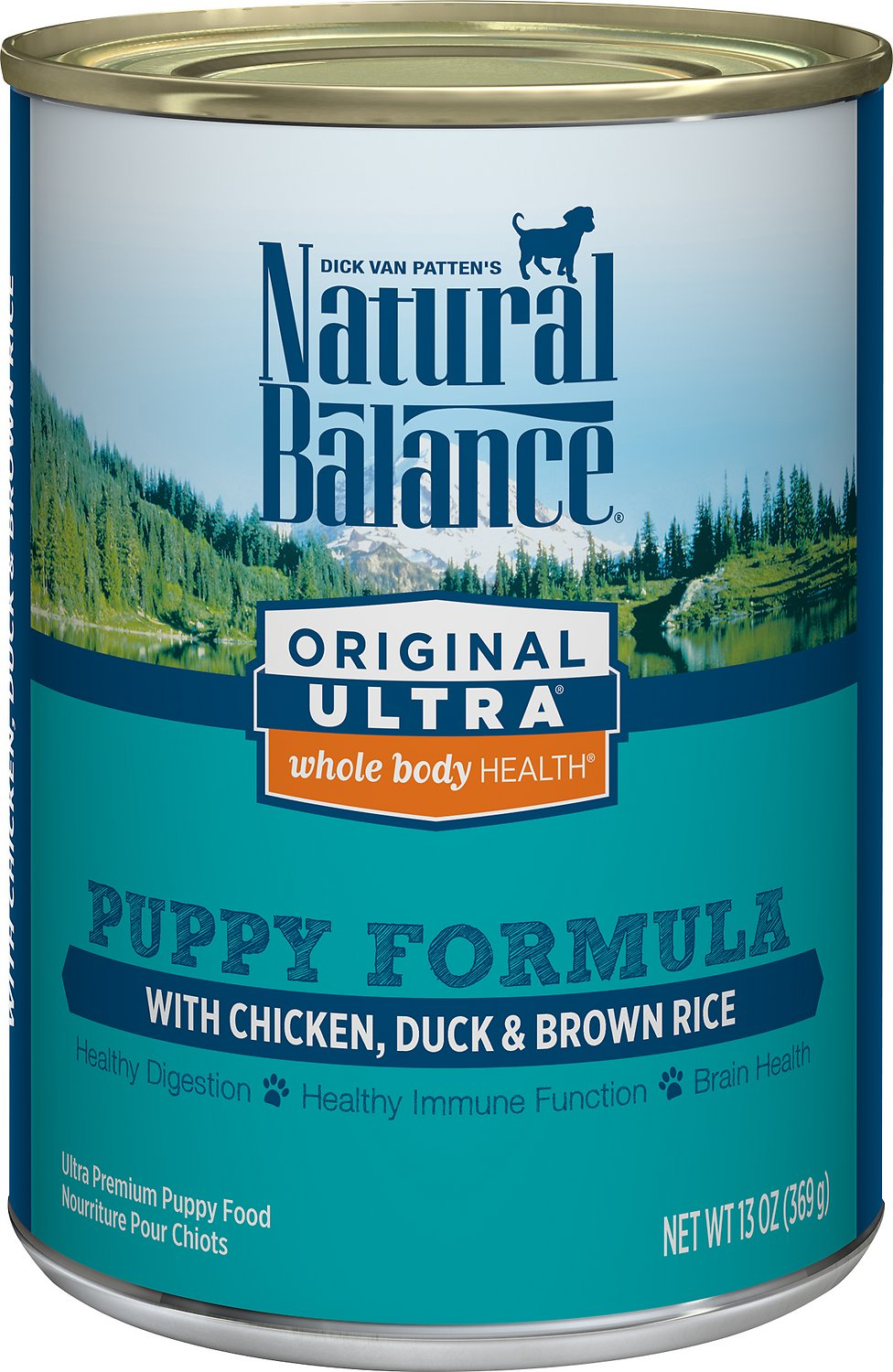 Natural Balance Original Ultra Whole Body Health Puppy Formula Chicken, Duck & Brown Rice Canned Dog Food, 13-oz