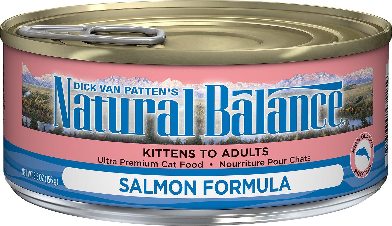 Natural Balance Ultra Premium Salmon Formula Canned Cat Food, 5.5-oz