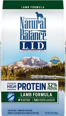 Natural Balance L.I.D. Limited Ingredient Diets High-Protein Lamb Formula Grain-Free Dry Dog Food, 4-lb bag
