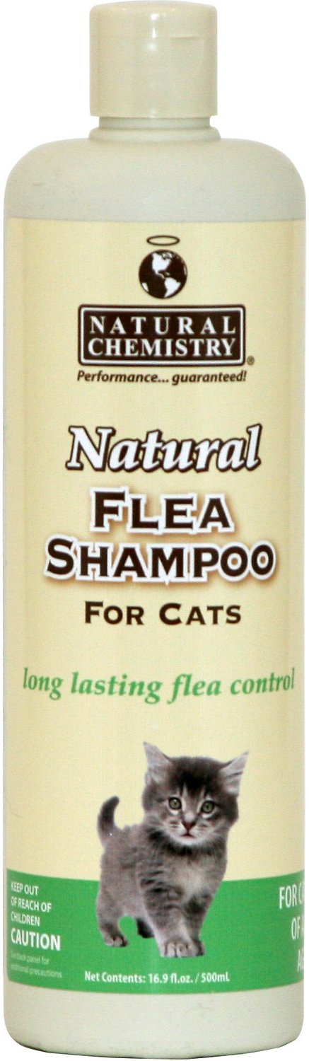 Natural Chemistry Natural Flea Shampoo for Cats, 16-oz, bottle
