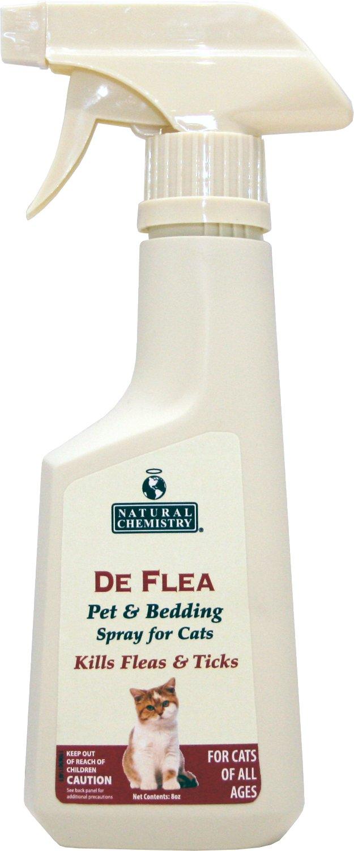 Natural Chemistry De Flea Pet & Bedding Spray for Cats, 8-oz spray