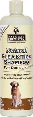 Natural Chemistry Natural Flea & Tick Shampoo for Dogs With Oatmeal