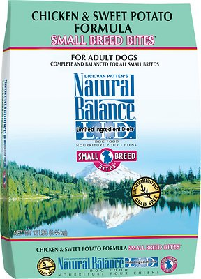 Natural Balance L.I.D. Limited Ingredient Diets Chicken & Sweet Potato Formula Small Breed Bites Grain-Free Dry Dog Food, 12-lb bag