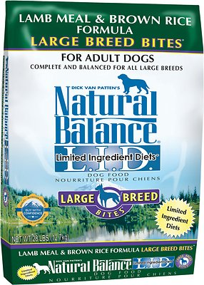 Natural Balance L.I.D. Limited Ingredient Diets Lamb Meal & Brown Rice Formula Large Breed Bites Dry Dog Food