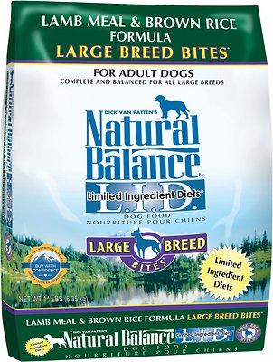 Natural Balance L.I.D. Limited Ingredient Diets Lamb Meal & Brown Rice Formula Large Breed Bites Dry Dog Food, 14-lb bag