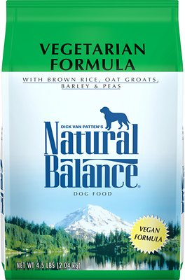 Natural Balance Vegetarian Formula Dry Dog Food, 4.5-lb bag
