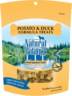 Natural Balance L.I.T. Limited Ingredient Treats Potato & Duck Formula Dog Treats, 14-oz bag