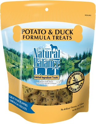 Natural Balance L.I.T. Limited Ingredient Treats Potato & Duck Formula Dog Treats, 28-oz bag