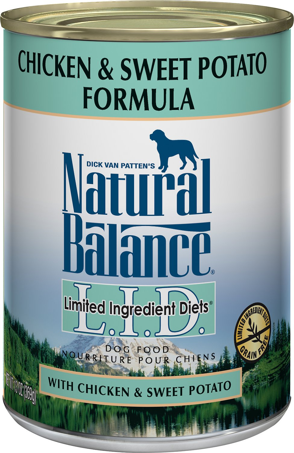 Natural Balance L.I.D. Limited Ingredient Diets Chicken & Sweet Potato Formula Grain-Free Canned Dog Food, 13-oz
