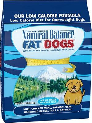 Natural Balance Fat Dogs Chicken & Salmon Formula Low Calorie Dry Dog Food, 15-lb bag