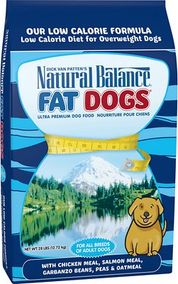 Natural Balance Fat Dogs Chicken & Salmon Formula Low Calorie Dry Dog Food, 28-lb bag