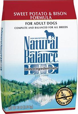 Natural Balance L.I.D. Limited Ingredient Diets Sweet Potato & Bison Formula Grain-Free Dry Dog Food, 13-lb bag